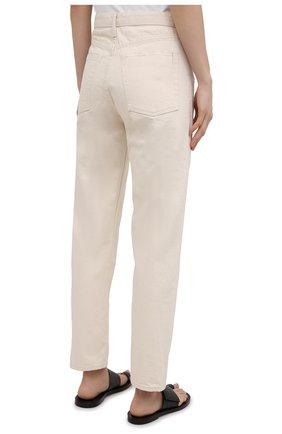 Женские джинсы JIL SANDER бежевого цвета, арт. JPPS663102-WS246500 | Фото 4