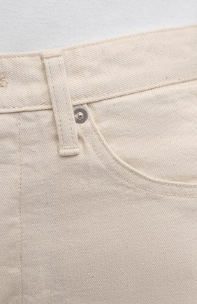 Женские джинсы JIL SANDER бежевого цвета, арт. JPPS663102-WS246500 | Фото 5