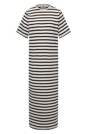 Женское хлопковое платье JIL SANDER черно-белого цвета, арт. JPPS717522-WS247518 | Фото 1