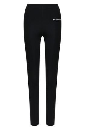 Женские леггинсы JIL SANDER черного цвета, арт. JPPS783523-WS478208 | Фото 1