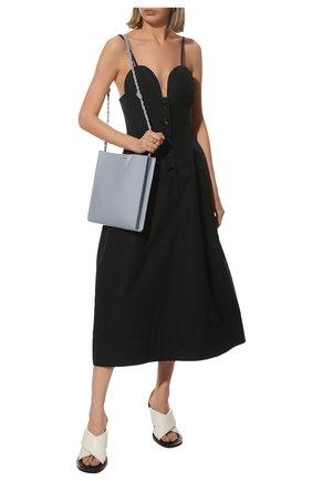 Женское хлопковое платье JIL SANDER черного цвета, арт. JSWS507875-WS244200 | Фото 2