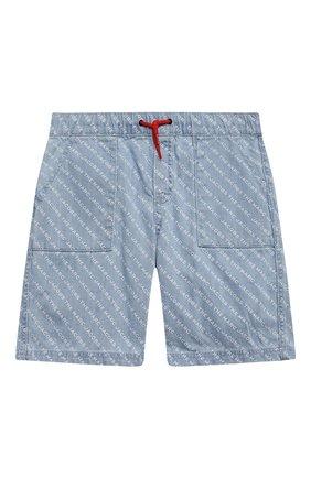 Детские джинсовые шорты MARC JACOBS (THE) голубого цвета, арт. W24238   Фото 1