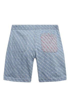 Детские джинсовые шорты MARC JACOBS (THE) голубого цвета, арт. W24238   Фото 2
