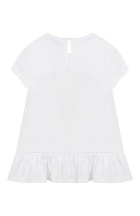 Детский хлопковая футболка MONNALISA белого цвета, арт. 317613P2 | Фото 2