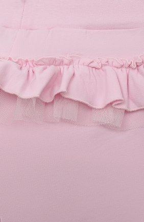 Детские хлопковые брюки MONNALISA розового цвета, арт. 377404   Фото 3