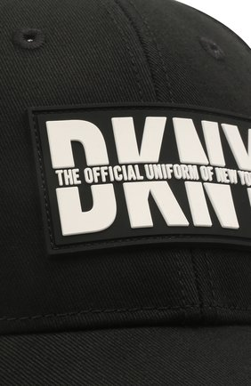 Детская хлопковая бейсболка DKNY черного цвета, арт. D31275   Фото 3 (Материал: Текстиль, Хлопок)