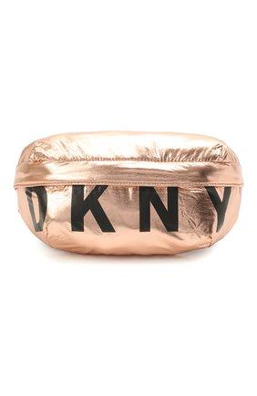 Детская поясная сумка DKNY золотого цвета, арт. D30502 | Фото 1