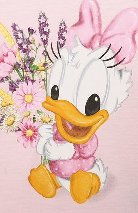 Детский хлопковая футболка MONNALISA розового цвета, арт. 317616PF | Фото 3 (Рукава: Короткие; Материал внешний: Хлопок; Ростовка одежда: 24 мес | 92 см)