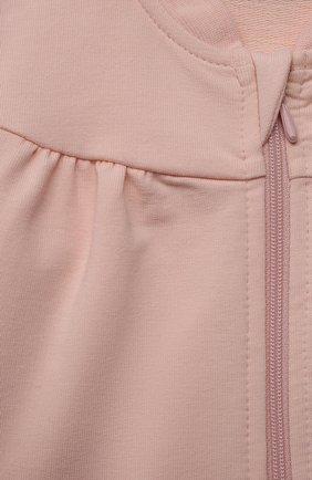 Детский хлопковая толстовка SANETTA FIFTYSEVEN розового цвета, арт. 906939.   Фото 3