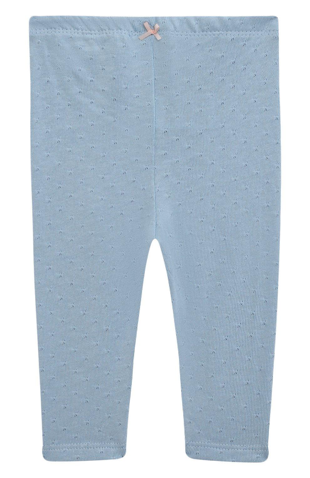 Детские хлопковые брюки SANETTA FIFTYSEVEN голубого цвета, арт. 906944. | Фото 1