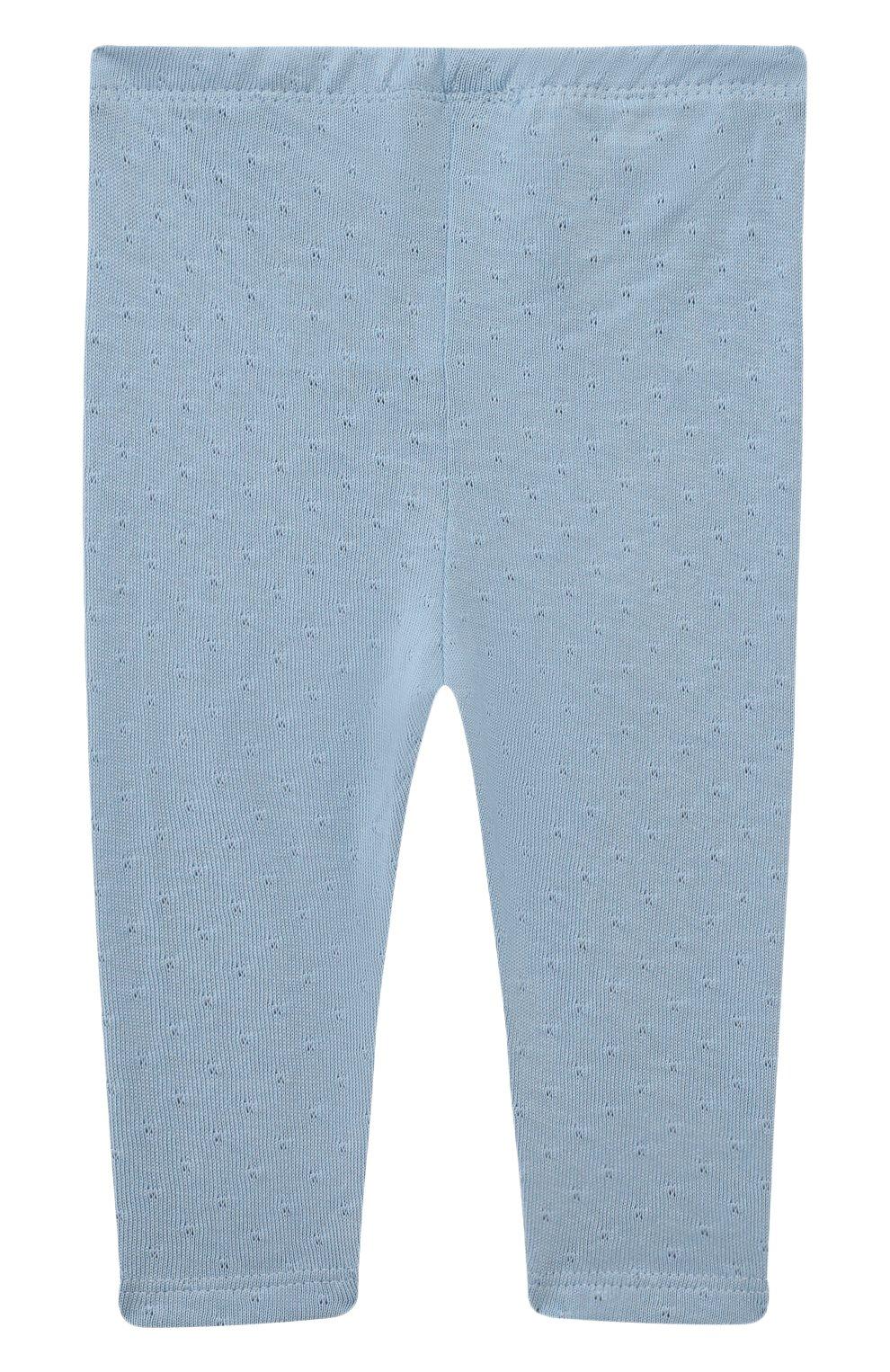 Детские хлопковые брюки SANETTA FIFTYSEVEN голубого цвета, арт. 906944. | Фото 2