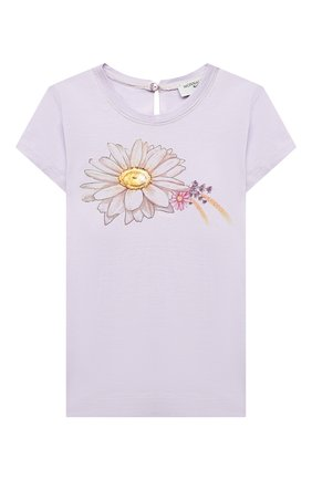 Детский хлопковая футболка MONNALISA сиреневого цвета, арт. 317620PL | Фото 1