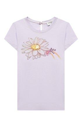Детский хлопковая футболка MONNALISA сиреневого цвета, арт. 317620PL. | Фото 1