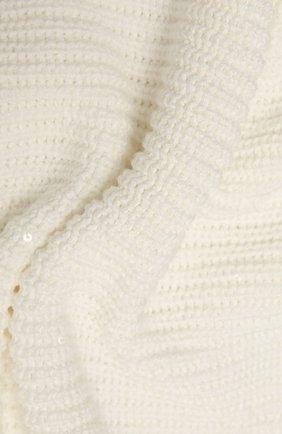 Детского одеяло из хлопка и льна BRUNELLO CUCINELLI белого цвета, арт. B7058L021 | Фото 2