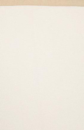 Детского одеяло из хлопка и льна BRUNELLO CUCINELLI белого цвета, арт. B7058L021 | Фото 3