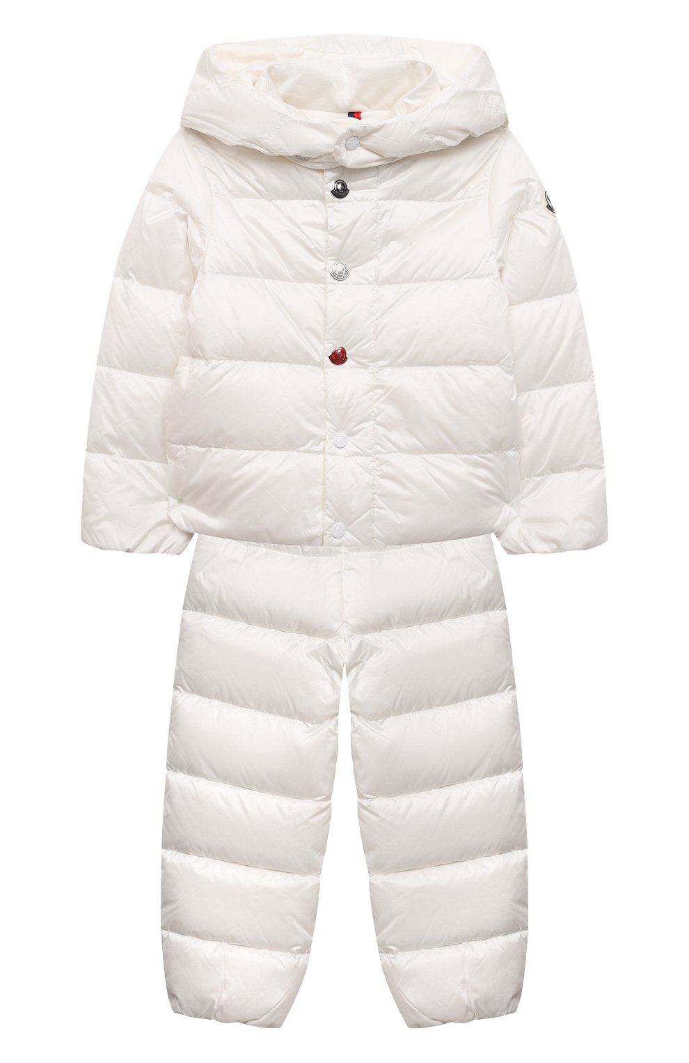 Детский комплект из куртки и брюк MONCLER белого цвета, арт. G1-951-1F510-00-53048 | Фото 1