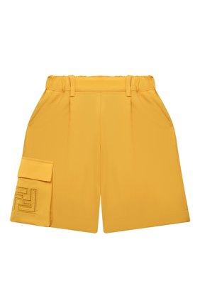 Детские шерстяные шорты FENDI желтого цвета, арт. JFF226/AEXR/8A-12+ | Фото 1