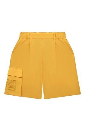 Детские шерстяные шорты FENDI желтого цвета, арт. JFF226/AEXR/3A-6A | Фото 1