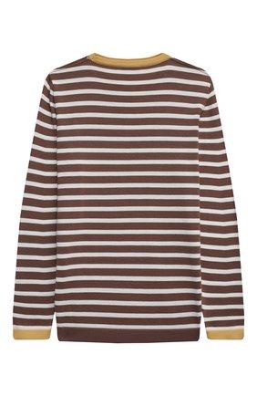 Детский хлопковый пуловер BRUNELLO CUCINELLI коричневого цвета, арт. B29M13800B   Фото 2
