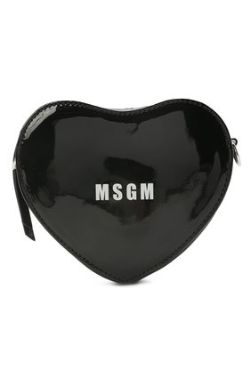 Детская сумка MSGM KIDS черного цвета, арт. MS026865   Фото 1 (Материал: Экокожа)