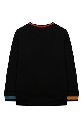 Детский хлопковый свитшот STELLA MCCARTNEY черного цвета, арт. 602248/SQJ43 | Фото 2