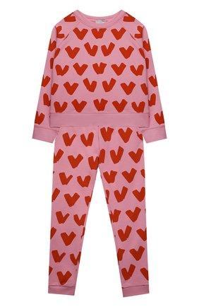 Детская комплект из свитшота и брюк STELLA MCCARTNEY розового цвета, арт. 602851/SQJD4 | Фото 1