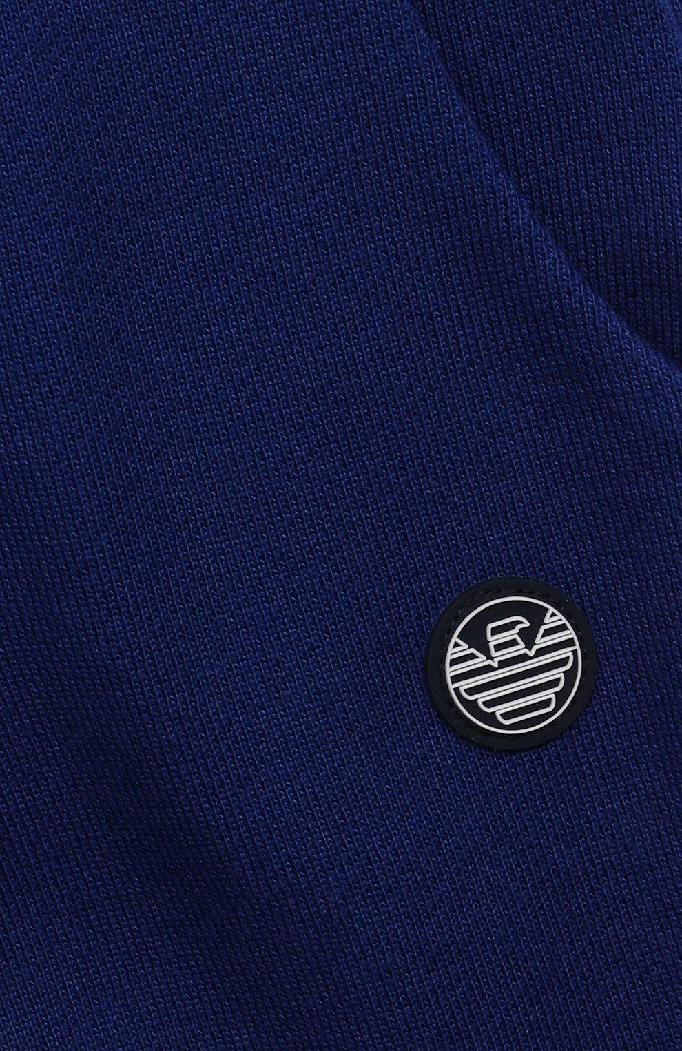 Детские джоггеры из вискозы и хлопка EMPORIO ARMANI синего цвета, арт. 3KHPJ6/4J4IZ   Фото 3
