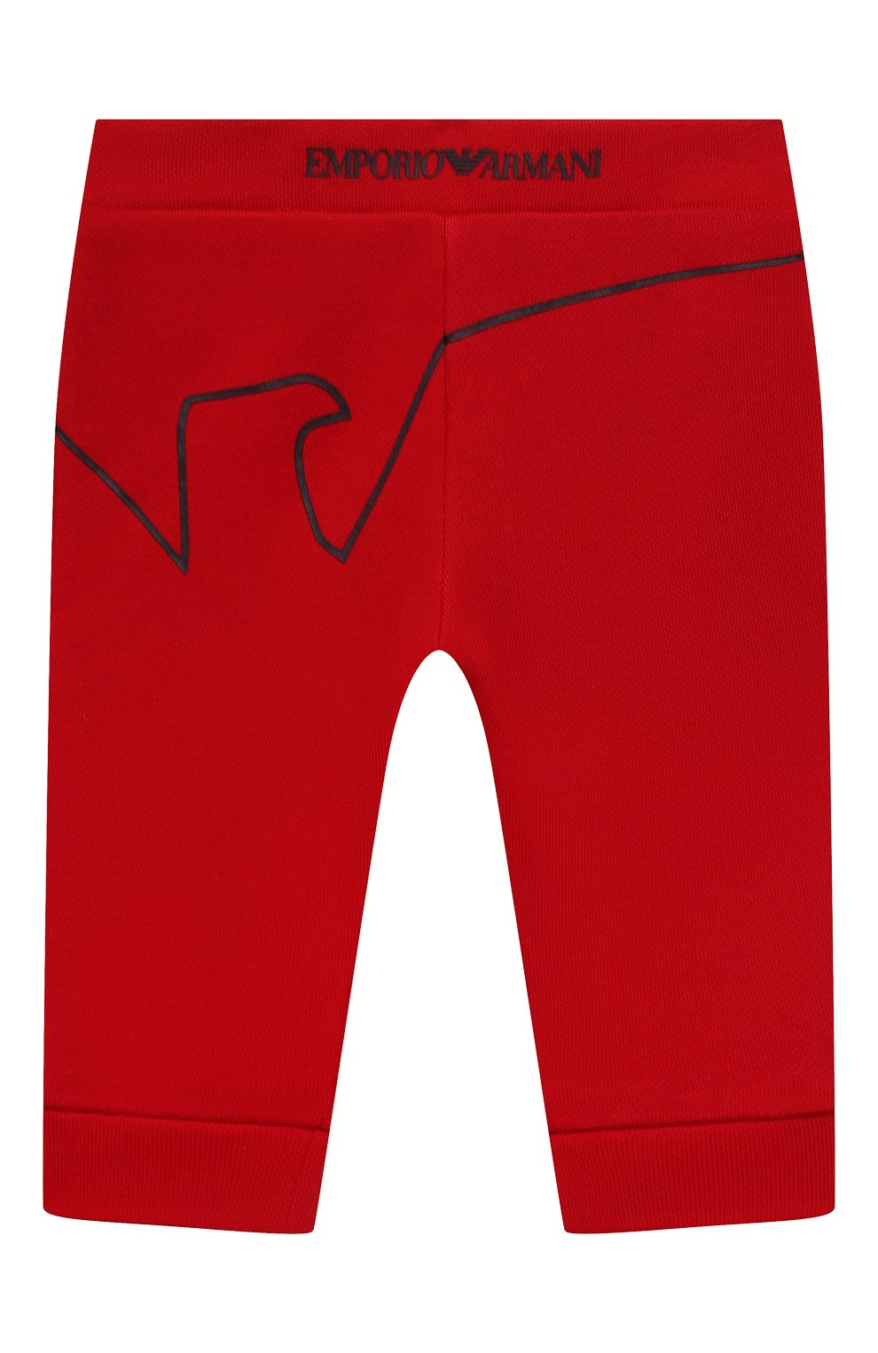 Детские джоггеры из вискозы и хлопка EMPORIO ARMANI красного цвета, арт. 3KHP03/4J4IZ | Фото 1
