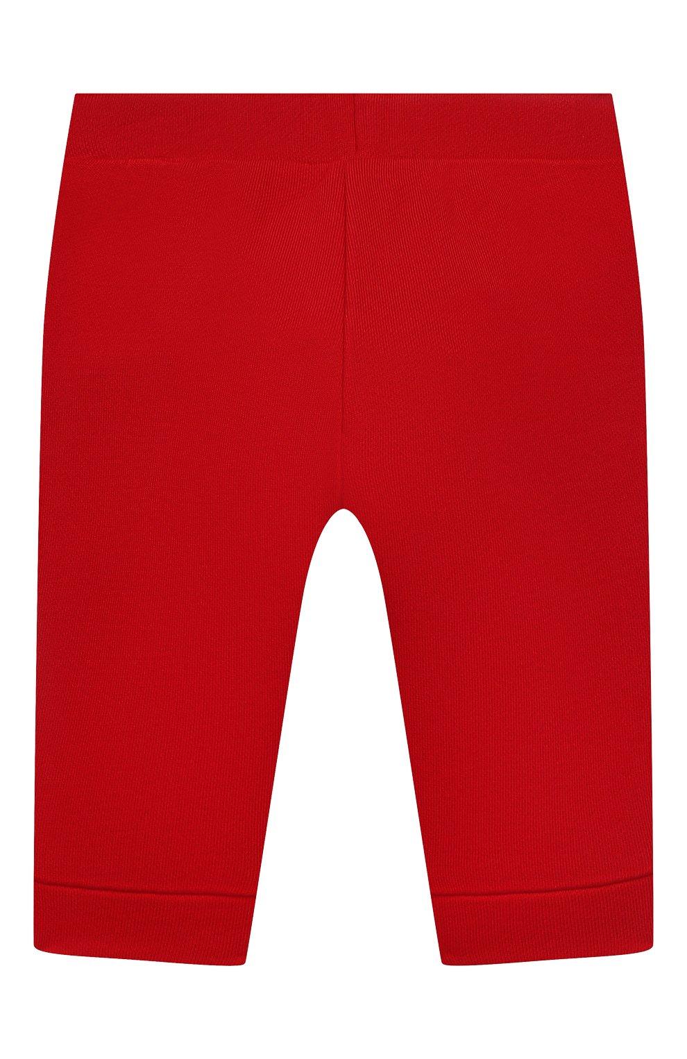 Детские джоггеры из вискозы и хлопка EMPORIO ARMANI красного цвета, арт. 3KHP03/4J4IZ | Фото 2