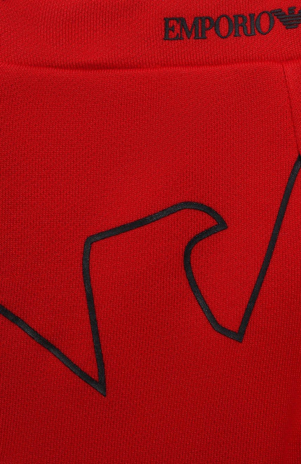 Детские джоггеры из вискозы и хлопка EMPORIO ARMANI красного цвета, арт. 3KHP03/4J4IZ | Фото 3