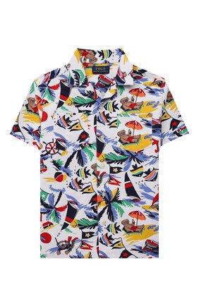 Детская хлопковая рубашка POLO RALPH LAUREN разноцветного цвета, арт. 322835438 | Фото 1 (Рукава: Короткие; Материал внешний: Хлопок; Ростовка одежда: 5 лет | 110 см, 6 лет | 116 см, 7 лет | 122 см)