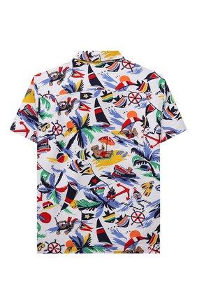 Детская хлопковая рубашка POLO RALPH LAUREN разноцветного цвета, арт. 322835438 | Фото 2 (Рукава: Короткие; Материал внешний: Хлопок; Ростовка одежда: 5 лет | 110 см, 6 лет | 116 см, 7 лет | 122 см)