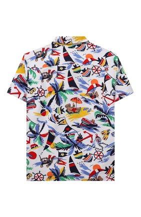 Детская хлопковая рубашка POLO RALPH LAUREN разноцветного цвета, арт. 321835438 | Фото 2 (Материал внешний: Хлопок; Рукава: Короткие; Ростовка одежда: 3 года | 98 см, 4 года | 104 см)