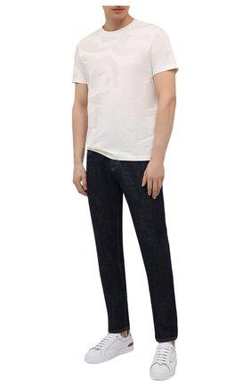 Мужская хлопковая футболка BOSS бежевого цвета, арт. 50449908 | Фото 2