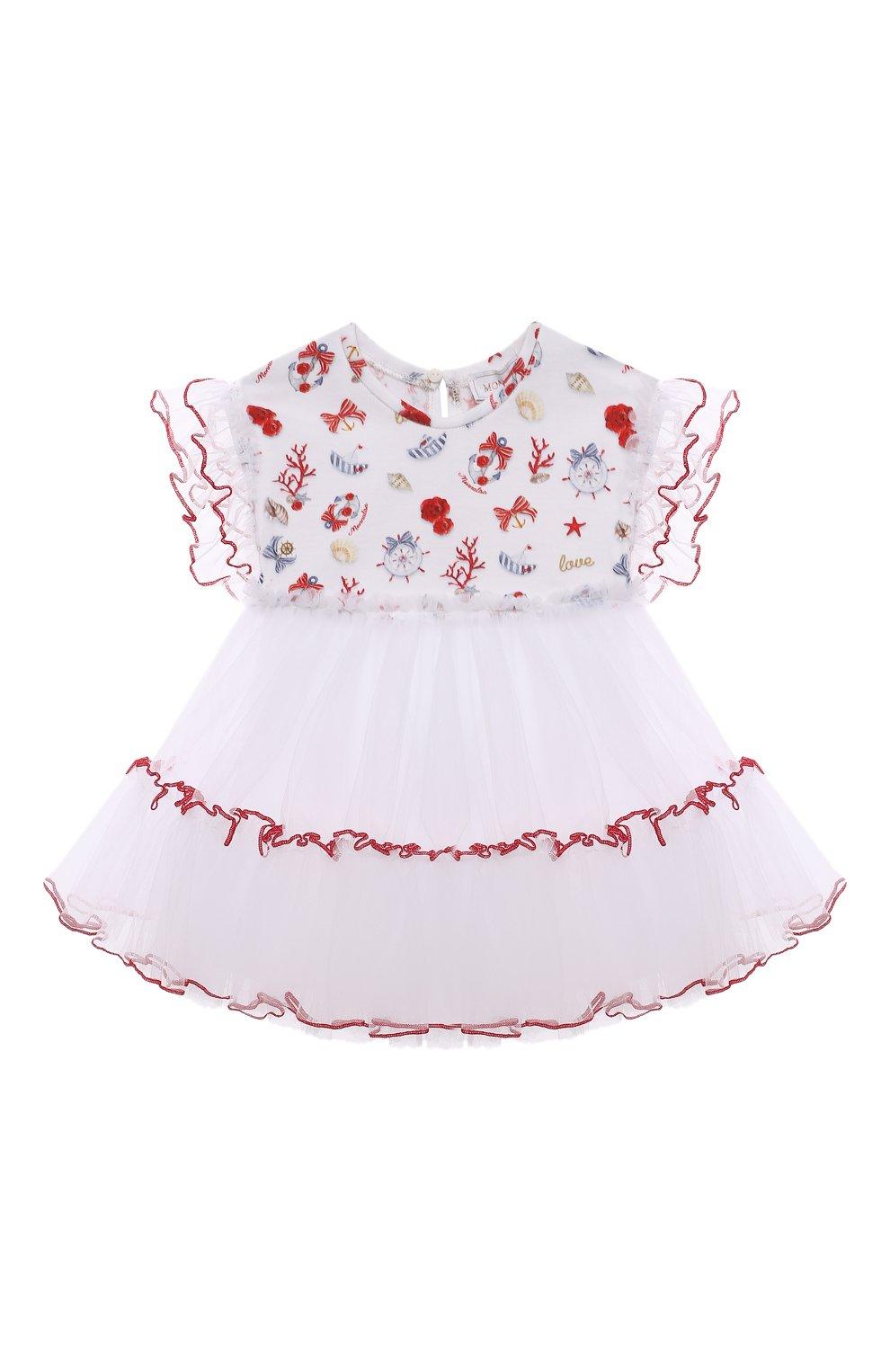 Женский хлопкковое платье MONNALISA разноцветного цвета, арт. 317909   Фото 1