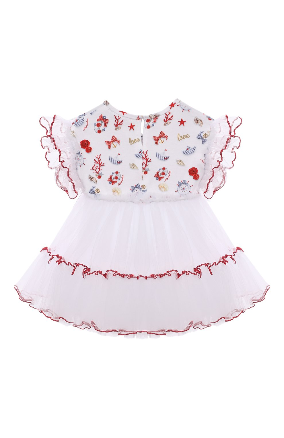 Женский хлопкковое платье MONNALISA разноцветного цвета, арт. 317909   Фото 2