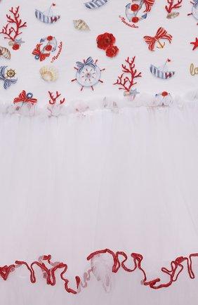 Женский хлопкковое платье MONNALISA разноцветного цвета, арт. 317909   Фото 3