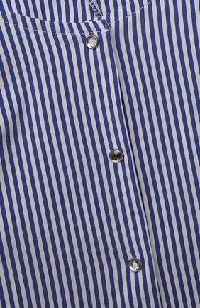 Детский хлопковый комбинезон MONNALISA голубого цвета, арт. 117201A1 | Фото 3
