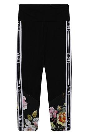 Детские хлопковые брюки JAKIOO черного цвета, арт. 417408 | Фото 1