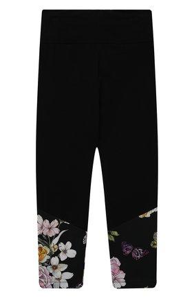 Детские хлопковые брюки JAKIOO черного цвета, арт. 417408 | Фото 2