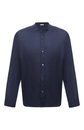 Мужская сорочка изо льна и хлопка ZIMMERLI темно-синего цвета, арт. 4697-75421 | Фото 1