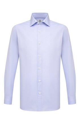 Мужская хлопковая сорочка LUIGI BORRELLI голубого цвета, арт. EV08/LUCIAN0/S10420/D0BLE CUFF | Фото 1