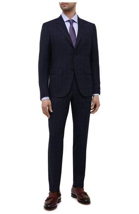 Мужская хлопковая сорочка LUIGI BORRELLI голубого цвета, арт. EV08/LUCIAN0/S10420/D0BLE CUFF | Фото 2