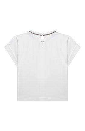 Детская хлопковая футболка BRUNELLO CUCINELLI белого цвета, арт. B0A45T030A | Фото 2