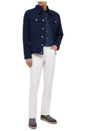 Мужская хлопковая рубашка ETON темно-синего цвета, арт. 1000 00395 | Фото 2 (Стили: Кэжуэл; Принт: Однотонные; Случай: Повседневный; Рубашки М: Regular Fit; Воротник: Кент; Материал внешний: Хлопок; Длина (для топов): Стандартные; Рукава: Длинные; Манжеты: На пуговицах)