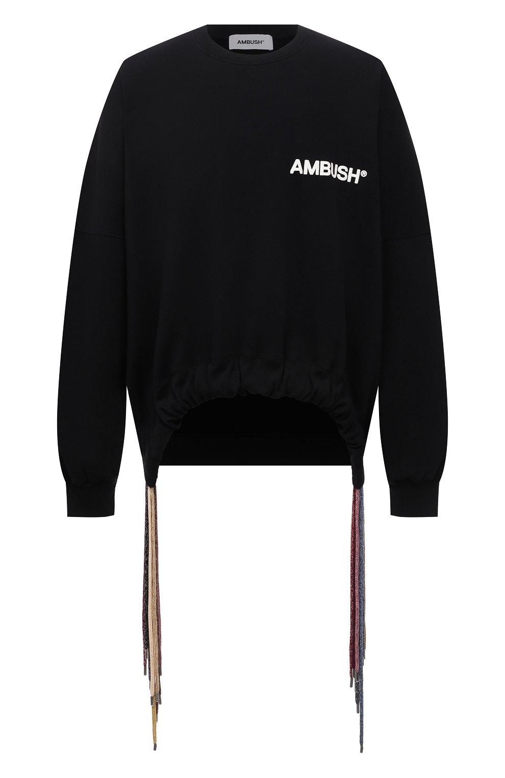 Мужской хлопковый свитшот AMBUSH черного цвета, арт. BMBA007S21FLE001   Фото 1