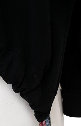 Мужской хлопковый свитшот AMBUSH черного цвета, арт. BMBA007S21FLE001   Фото 5