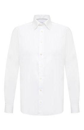Мужская хлопковая рубашка ETON белого цвета, арт. 3991 61311 | Фото 1 (Материал внешний: Хлопок; Воротник: Кент; Случай: Формальный; Длина (для топов): Стандартные; Стили: Классический; Рукава: Длинные; Рубашки М: Regular Fit; Принт: Однотонные; Манжеты: На пуговицах)