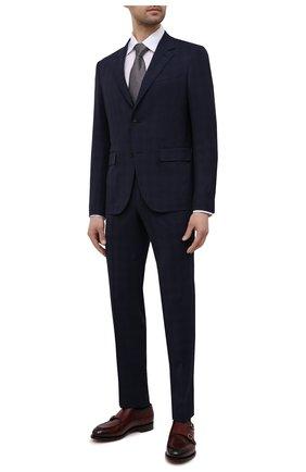 Мужская хлопковая рубашка ETON белого цвета, арт. 3991 61311 | Фото 2 (Материал внешний: Хлопок; Воротник: Кент; Случай: Формальный; Длина (для топов): Стандартные; Стили: Классический; Рукава: Длинные; Рубашки М: Regular Fit; Принт: Однотонные; Манжеты: На пуговицах)