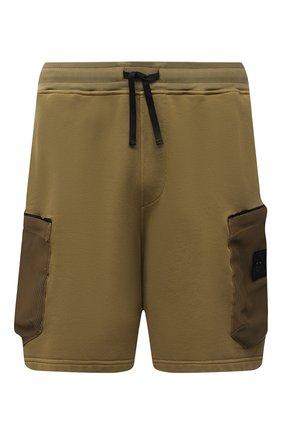 Мужские шорты STONE ISLAND SHADOW PROJECT хаки цвета, арт. 741960307   Фото 1